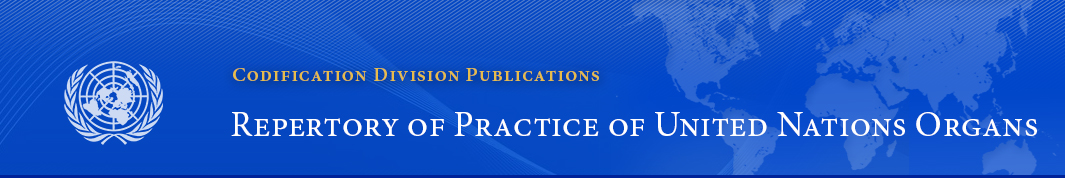 Chapter V Article Charter Of The United Nations Repertory Of Practice Of United Nations Organs Codification Division Publications